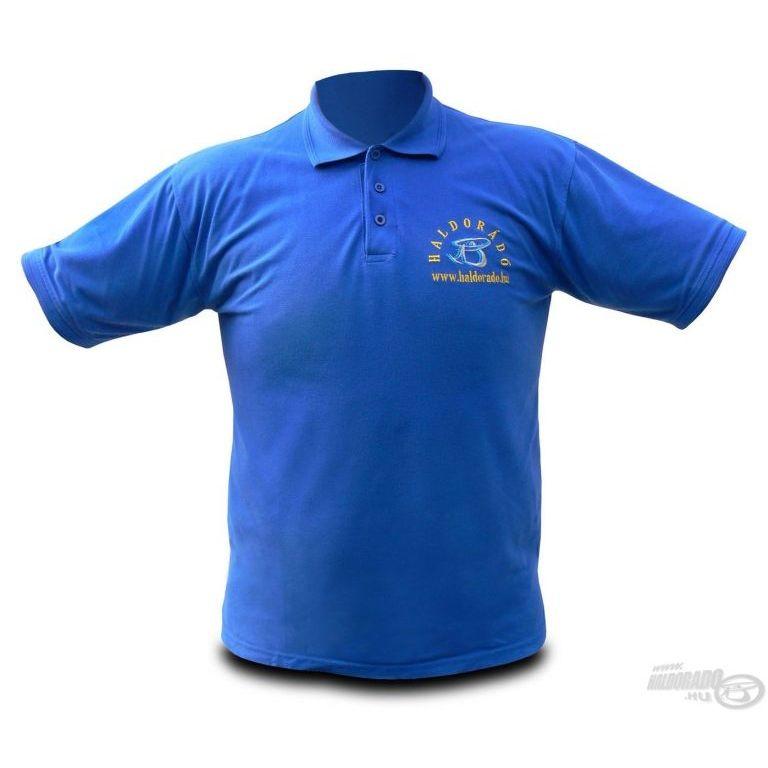 HALDORÁDÓ Királykék hímzett galléros póló XXXL
