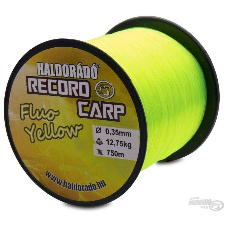 HALDORÁDÓ Record Carp Fluo Yellow 0,25 mm / 900 m