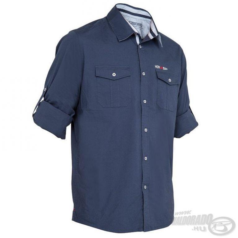 HALDORÁDÓ TRIBORD UPF 40+ UV szűrős ing sötétkék L