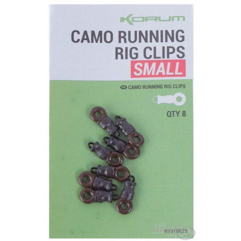 KORUM Feeder végszerelék - Camo Running Rig Clips S