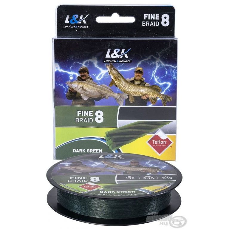 L&K Fine Braid 8 Dark Green - 0,06 mm