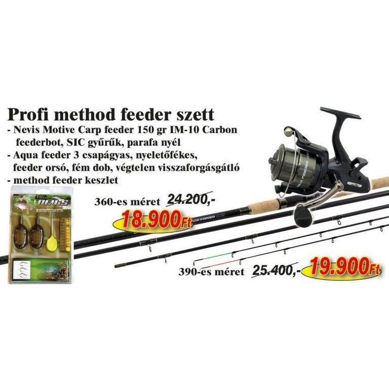 NEVIS Profi Method Feeder szett 3,9 méteres bottal (KB-452)