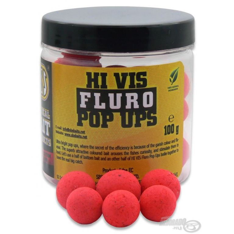 SBS Hi Vis Fluro Pop Up bojli Strawberry 16-20 mm