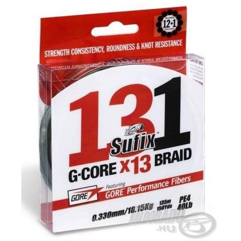 SUFIX 131 G-Core X13 Braid Green 150 m - 0,205 mm