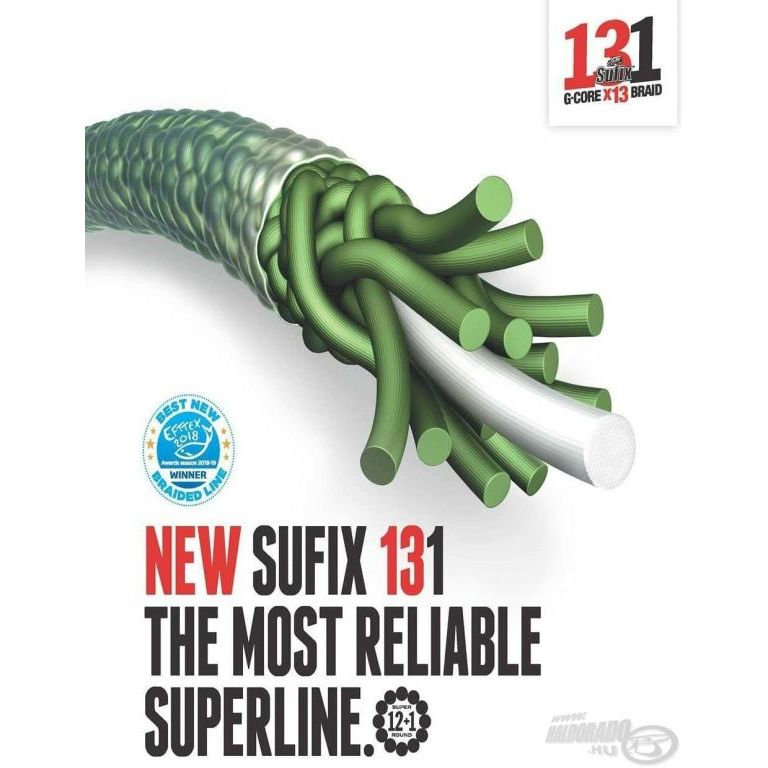 SUFIX 131 G-Core X13 Braid Green 150 m - 0,205 mm